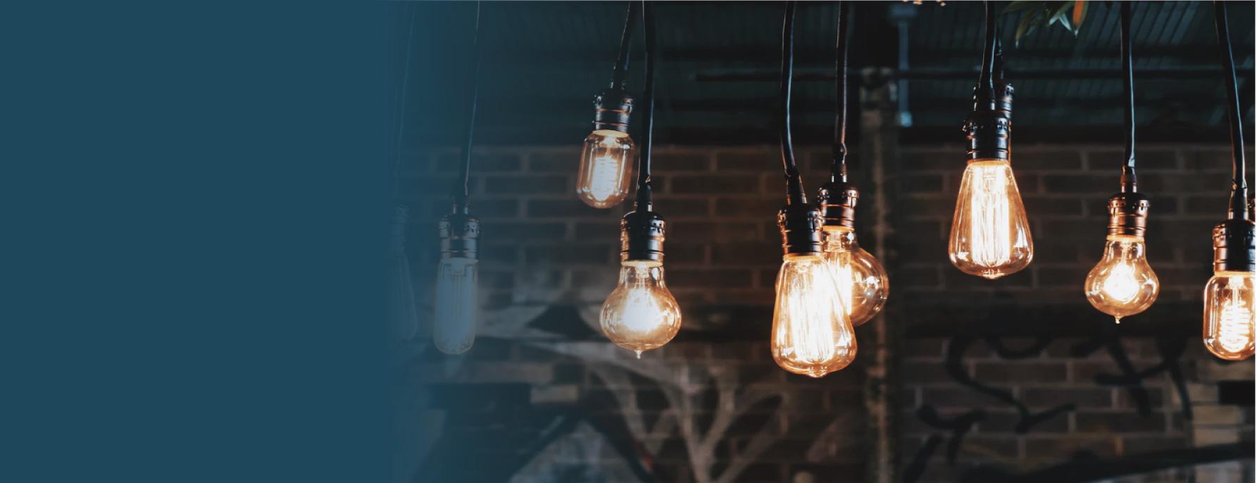 Lampen die ideeen symboliseren